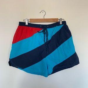 1147c461a1 Dockwear Men's Color Block Vintage Swim Trunks